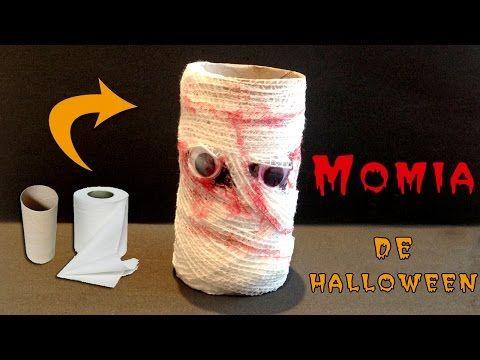 Momia Halloween -DIY- Halloween - YouTube Manualidades Pinterest