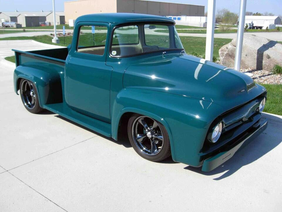 Turquoise Ford Truck