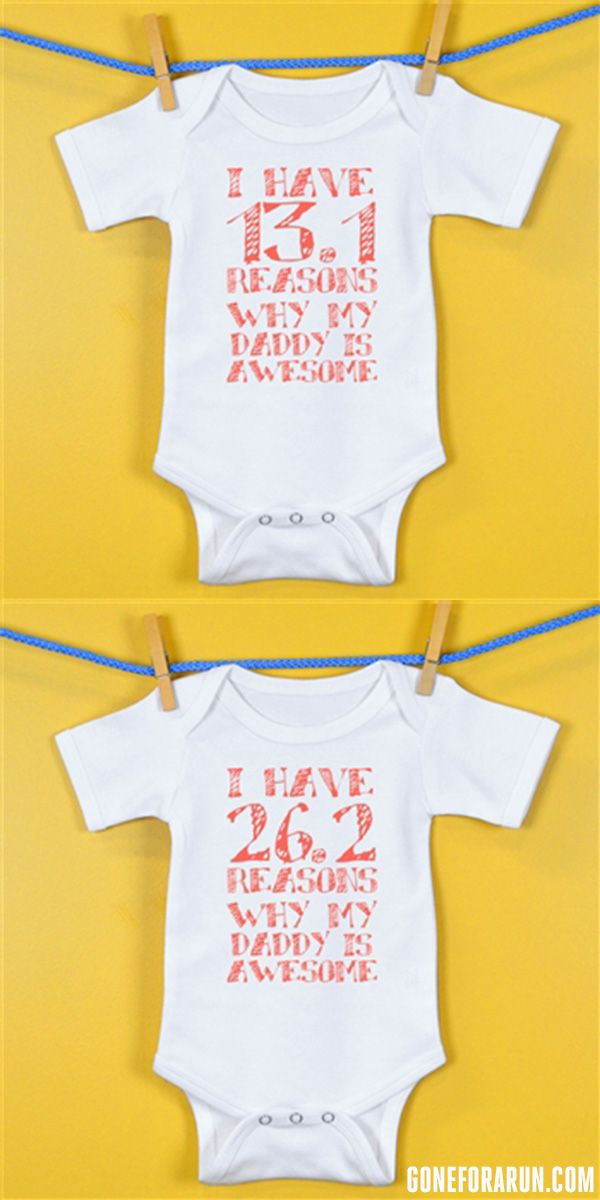 0f26973c86a73 Baby Onesie is the perfect gift for Marathon and Half Marathon ...