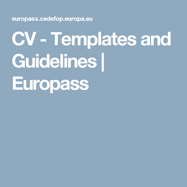 Cv europass format europecv latex template sharelatex online latex cv templates and guidelines europass the more you know pinterest cv template and curriculum vitae template yelopaper Gallery