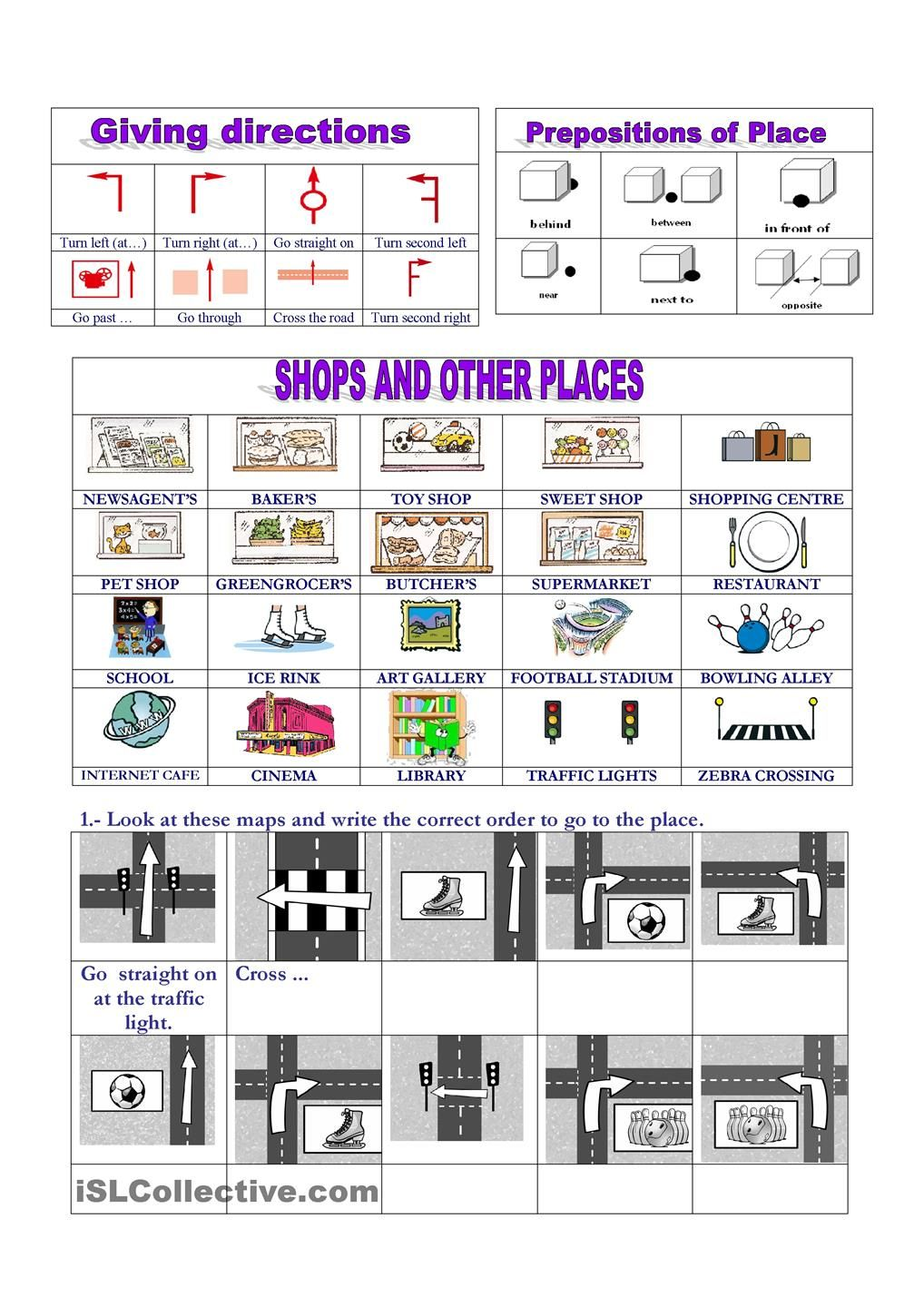 Uncategorized Directions Worksheet places giving directions httpwww babelcoach netfr netfr