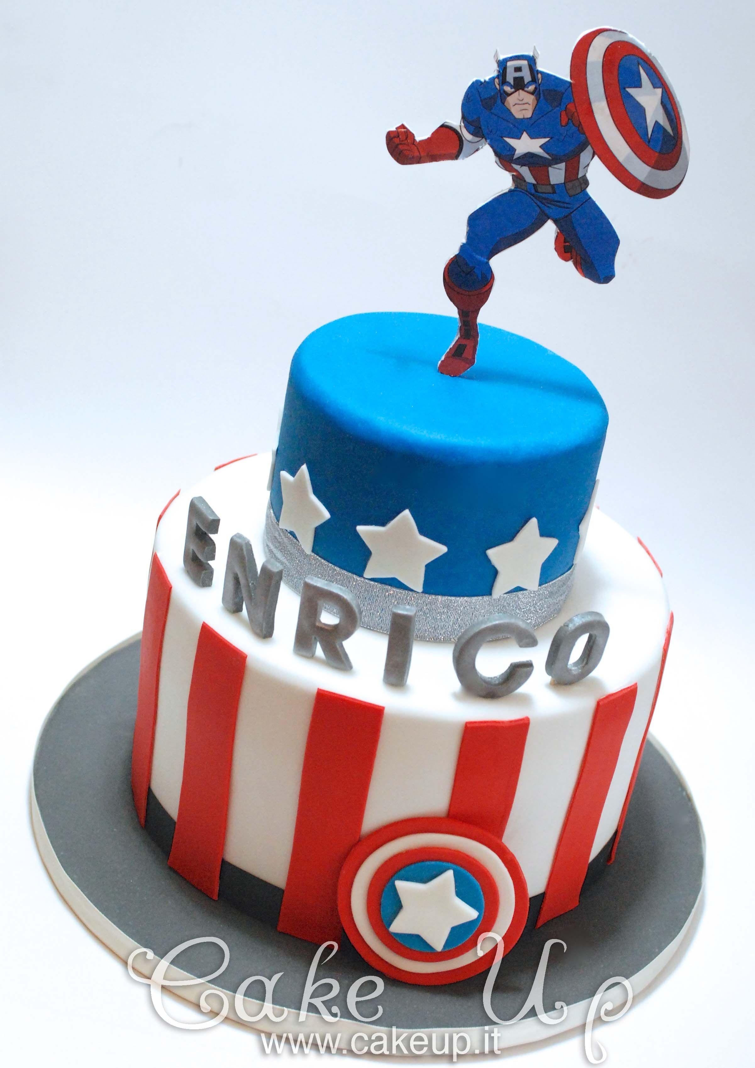 CAPTAIN AMERICA CAKE Recipes Pinterest Captain america cake