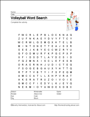 Learn About Volleyball With Free Volleyball Printables Volleyball Volleyball Party Volleyball Crafts