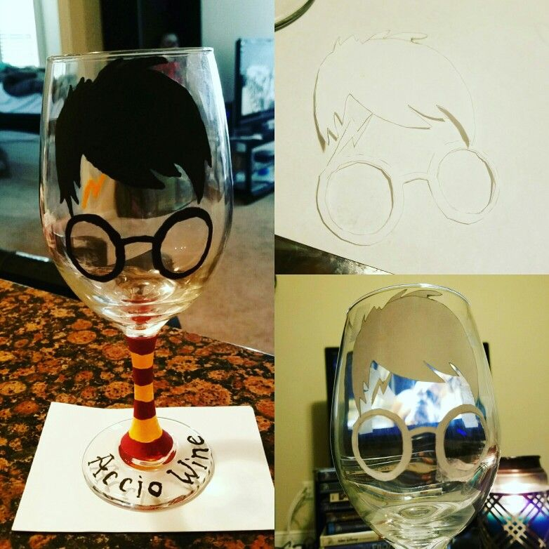 Diy harry potter hand painted wine glass accio wine did it myself diy harry potter hand painted wine glass accio wine solutioingenieria Choice Image