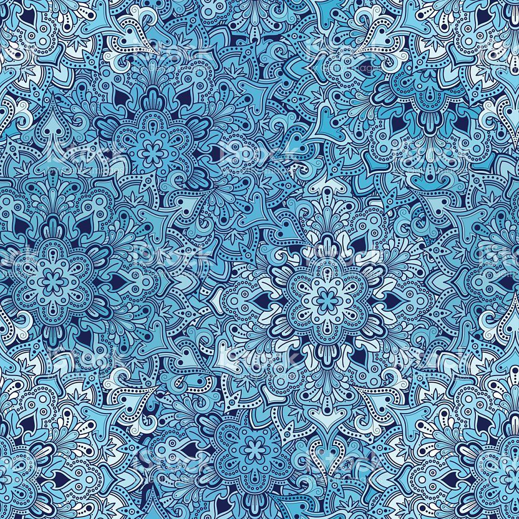 Boho Flower Pattern royalty-free stock vector art
