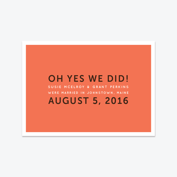 oh yes we did elopement announcement elopement announcements