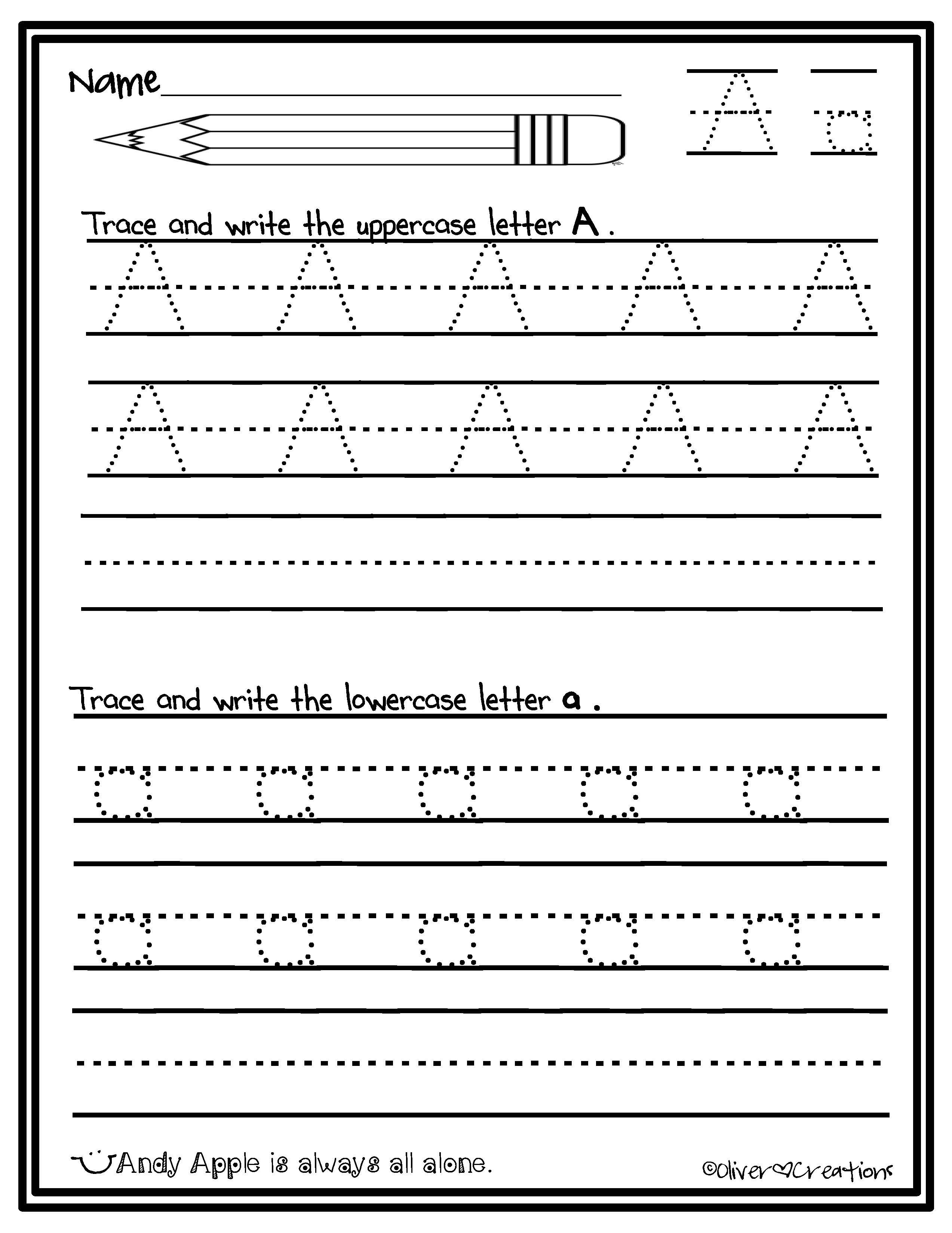 Enhancing legible handwriting formation for kids. TPT product: Letter  tracing packet includes both uppercase and lowercase letters A-Z.