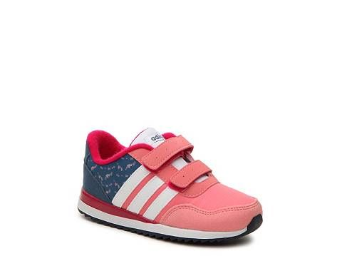 adidas NEO V Jog Girls Infant \u0026 Toddler Velcro Sneaker
