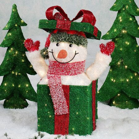 Outdoor snowman idea for a float in the parade maybe using a white - outdoor snowman christmas decorations