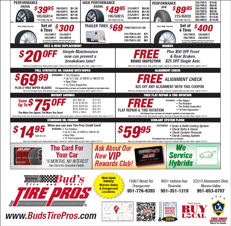 Pin by Bud's Tire & Wheel - Bud's Tire Pros on Specials