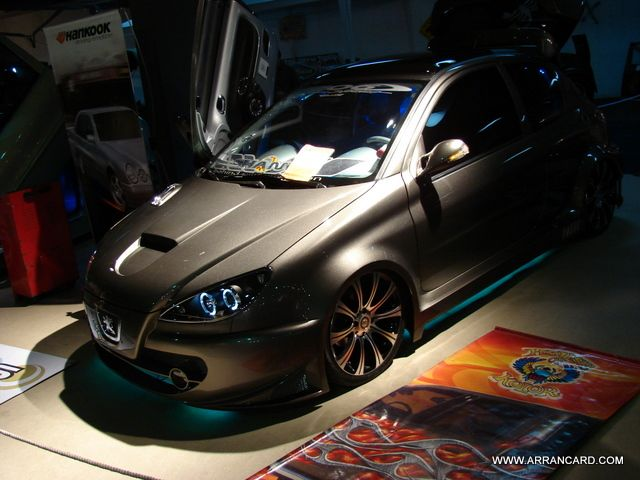 peugeot 206 tuning expo el garage motor show 2008. Black Bedroom Furniture Sets. Home Design Ideas