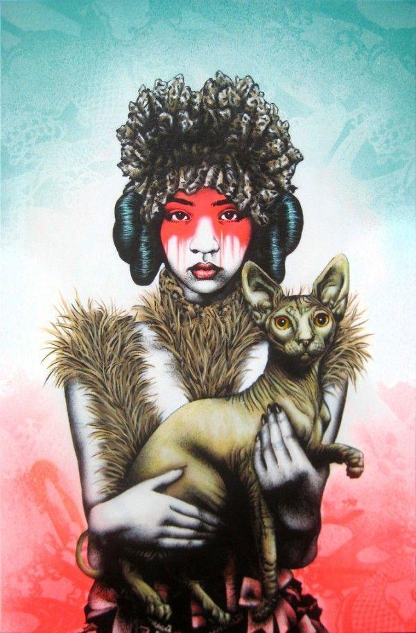 Street art,,Fin DAC's urban art