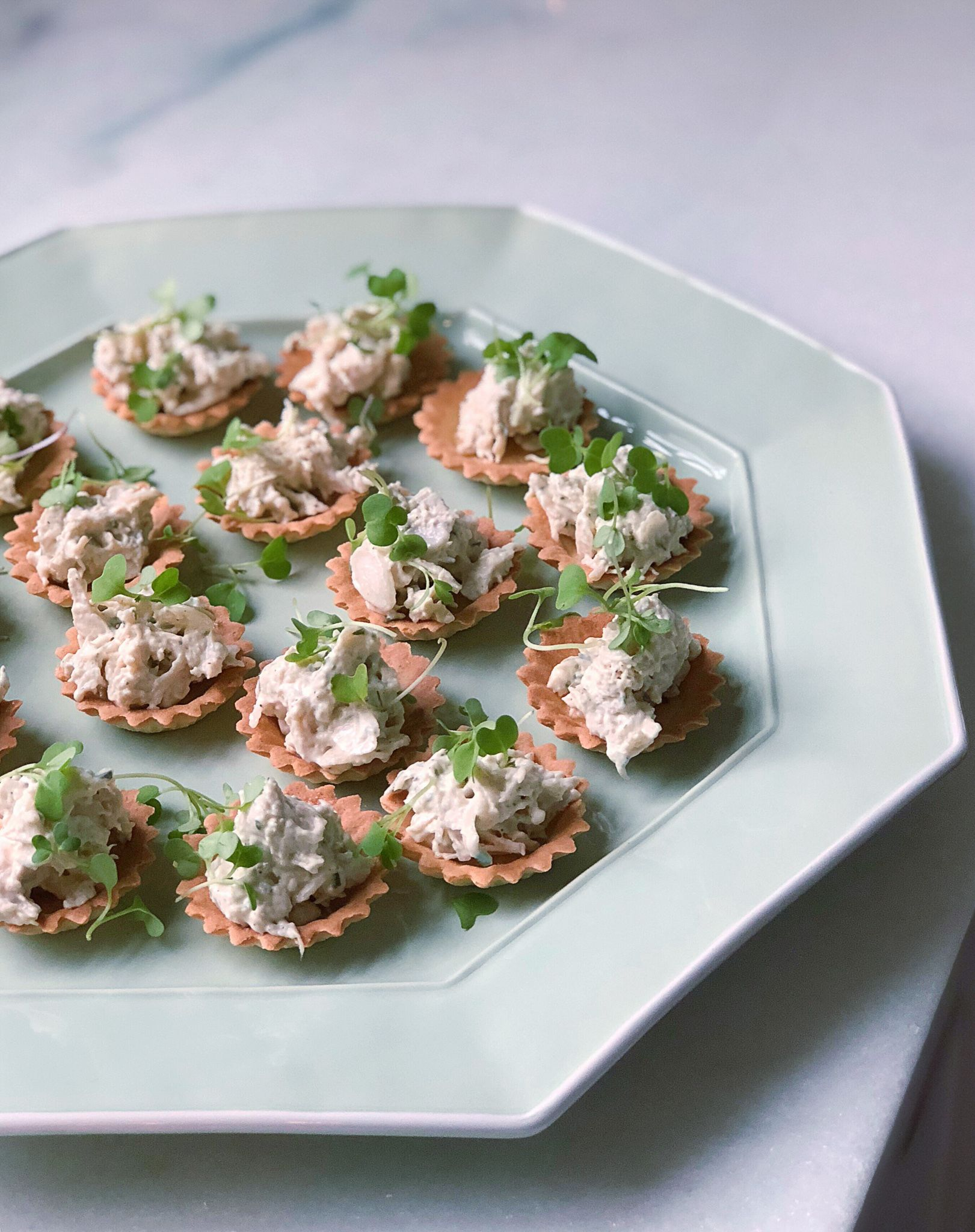 Tarragon Chicken Salad Served In Crostata Tarts These Are The