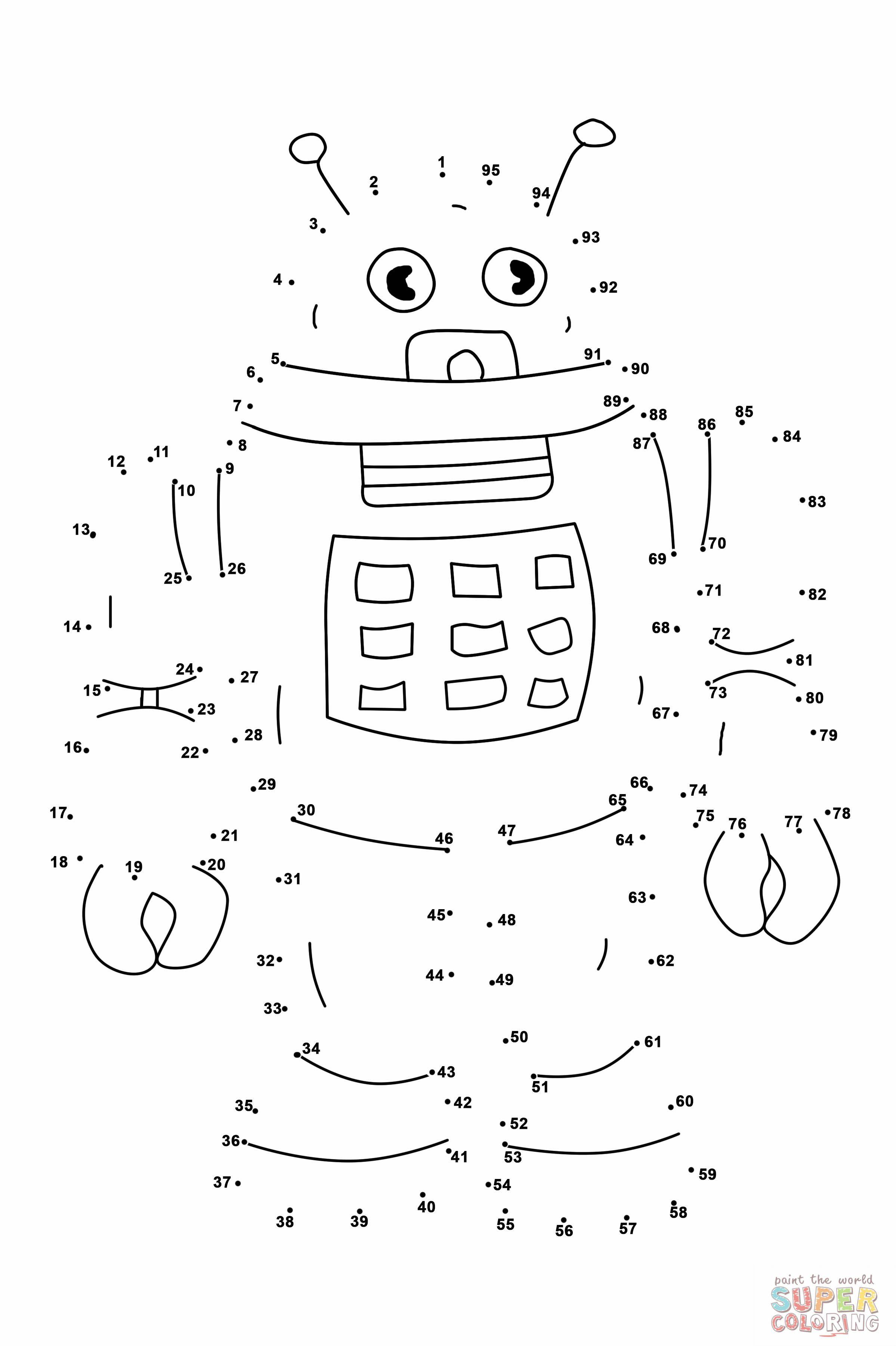 Robot Dot To Dot Jpg 2398 3602 Dot Worksheets Dot To Dot Printables Dots Free