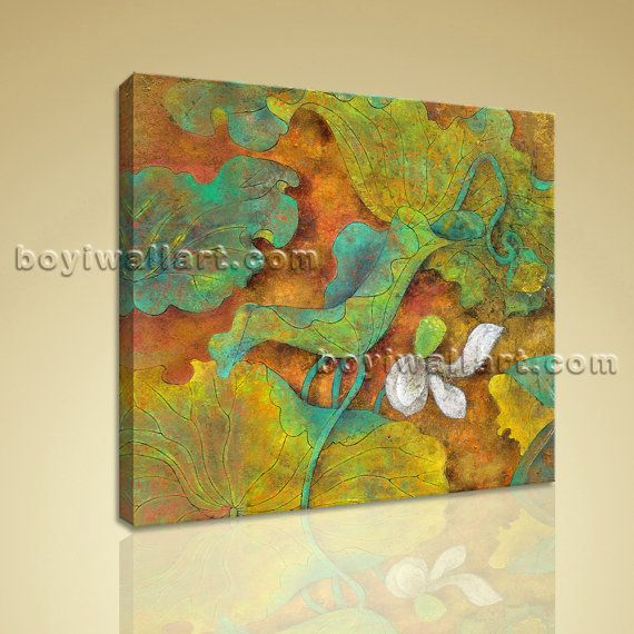 Contemporary Abstract Floral Painting HD Print Canvas Wall Art Water ...