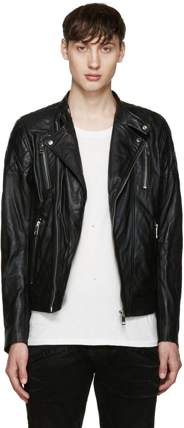 Diesel Black L Rambi Biker Jacket Modesens Biker Jacket Jackets Jacket Design [ 1419 x 610 Pixel ]