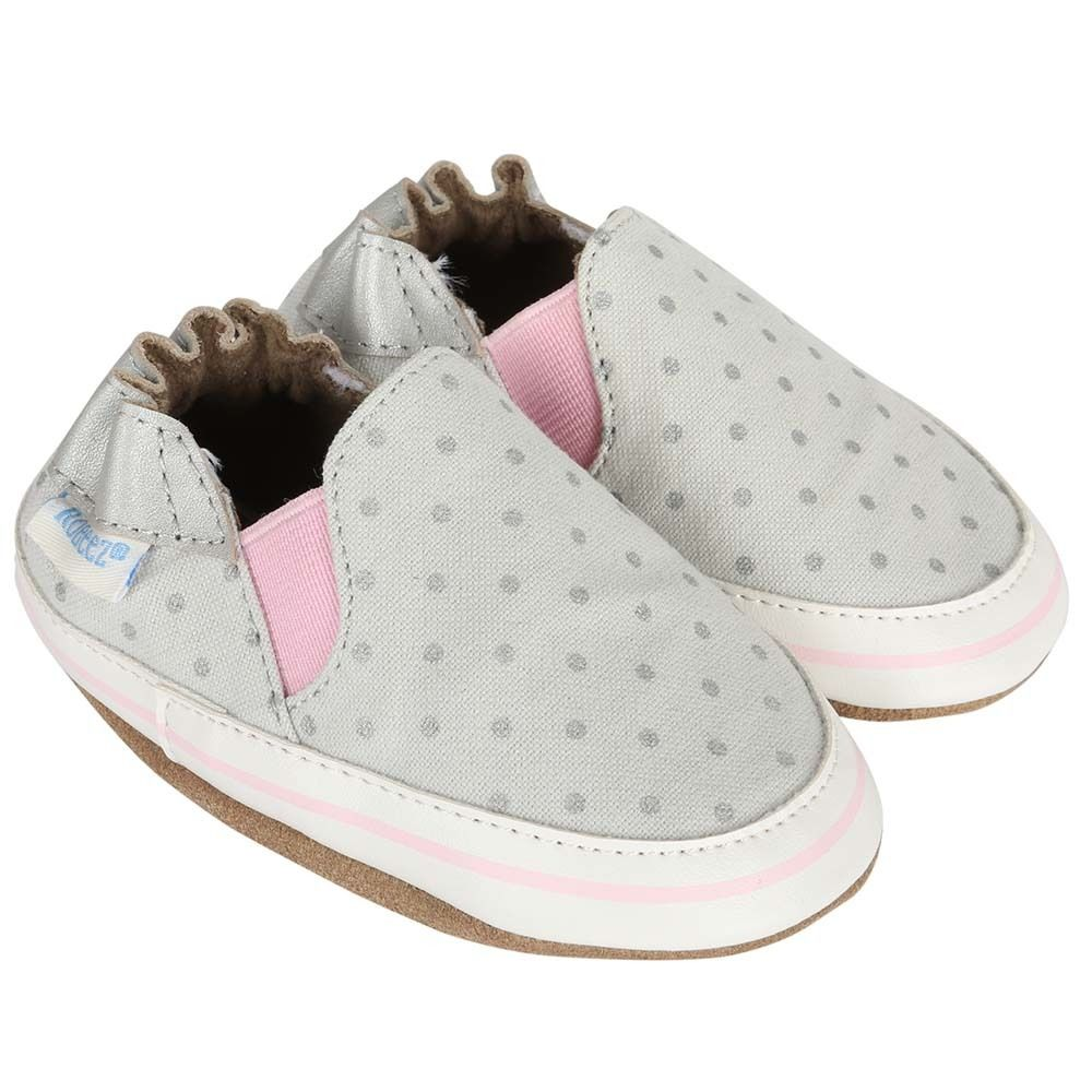 Wear Resistance Robeez Heartbreaker Crib Shoe(Infant/Toddler Girls') -Light Grey Quality Free Shipping For Sale Lowest Price Cheap Price Cheap Largest Supplier Pick A Best Kh2VluG0tK