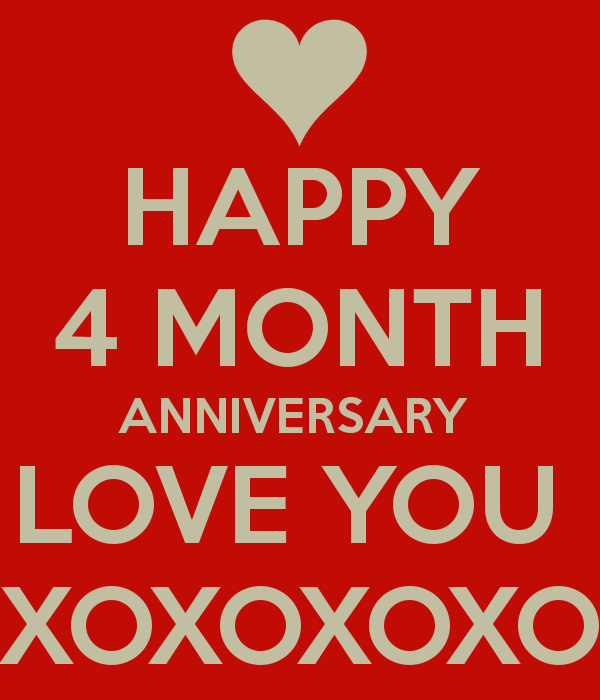 happy 4 months quotes
