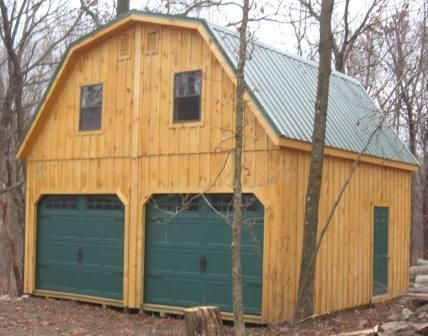 20x20 Board And Batten Gambrel Hinged Roof Doublewide Prefab Garages Shed Plans Shed