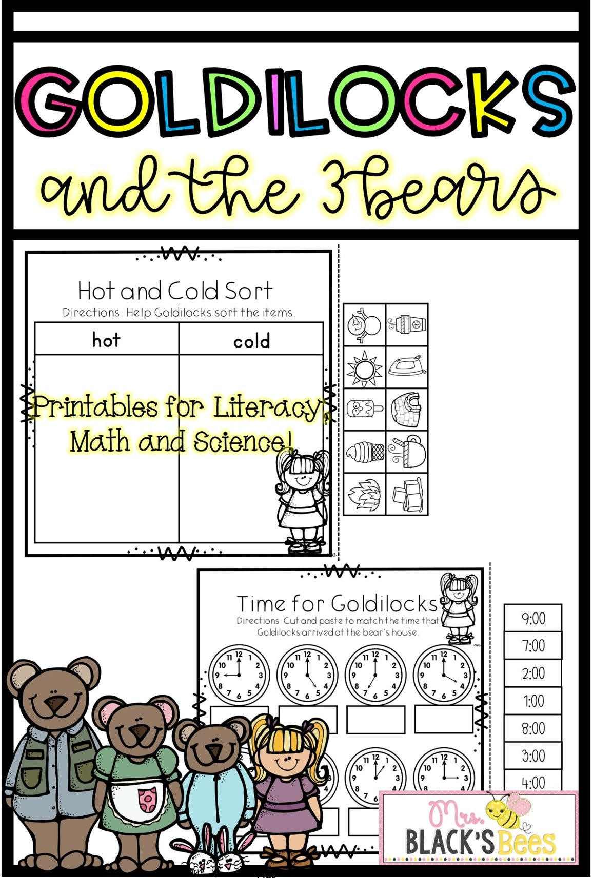 This Goldilocks And The Three Bears Unit Is Perfect For
