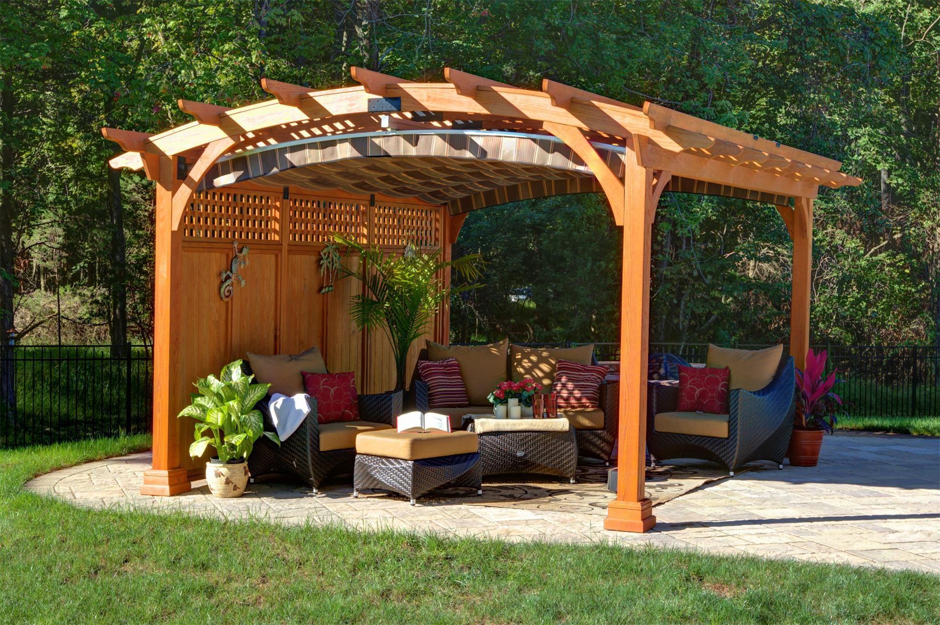 Voile Ombrage Pergola Bois amish hearthside pine pergola kit | pergola patio, outdoor