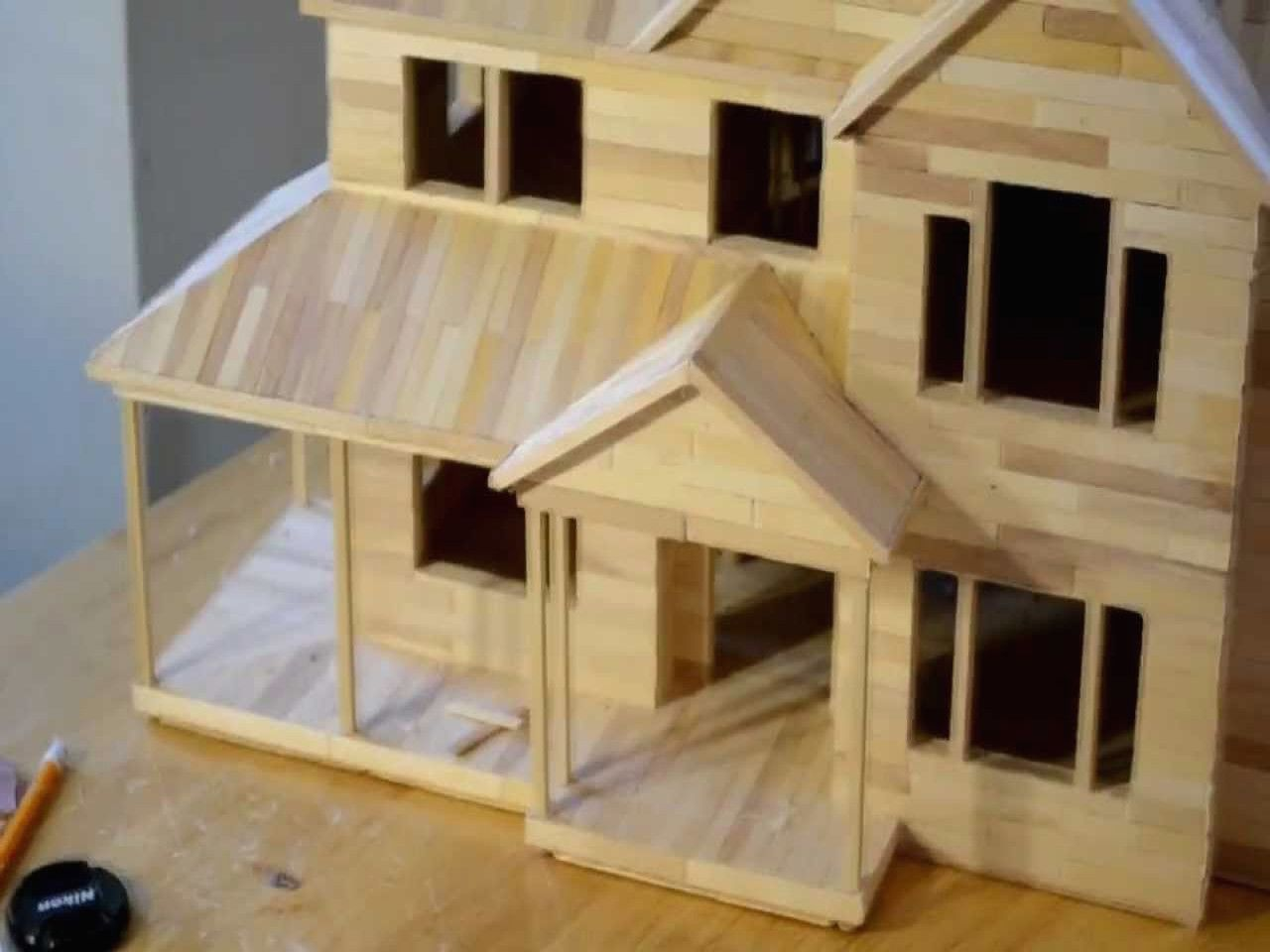 Popsicle Stick House Plans Free Awesome Popsicle Stick House Floor Plans Popsicle Stick Houses Popsicle House Unique House Plans