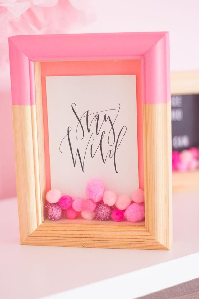 Pom-Pom Filled Shadow Boxes! | Pinterest | Selfmade, Dekoration und ...