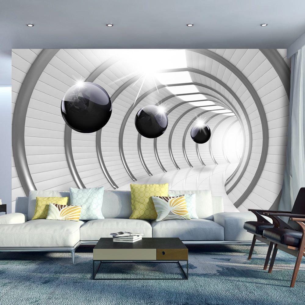 Vlies fototapete tapeten xxl wandbilder tapete abstrakt 3d tunnel a c 0001 a a in heimwerker - 3d wandbilder wohnzimmer ...