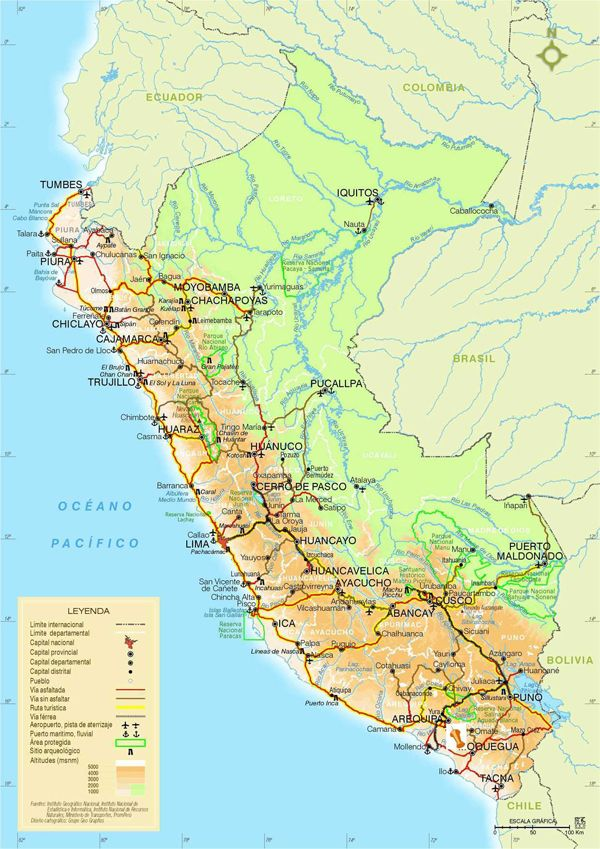 Large detailed road and physical map of peru with cities peru large detailed road and physical map of peru with cities peru detailed road and physical sciox Choice Image