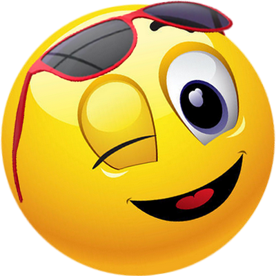 FV + smiley jaune avec lunettes de soleil - émoticône clipart cartoon -  fond transparent | Emoticone, Smiley heureux, Smileys