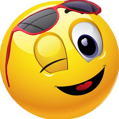 FV + smiley jaune avec lunettes de soleil - émoticône ...