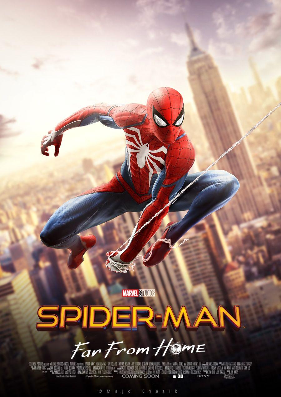 Spider Man Far From Home Majd Khatib Movie Posters Spiderman Movie Art