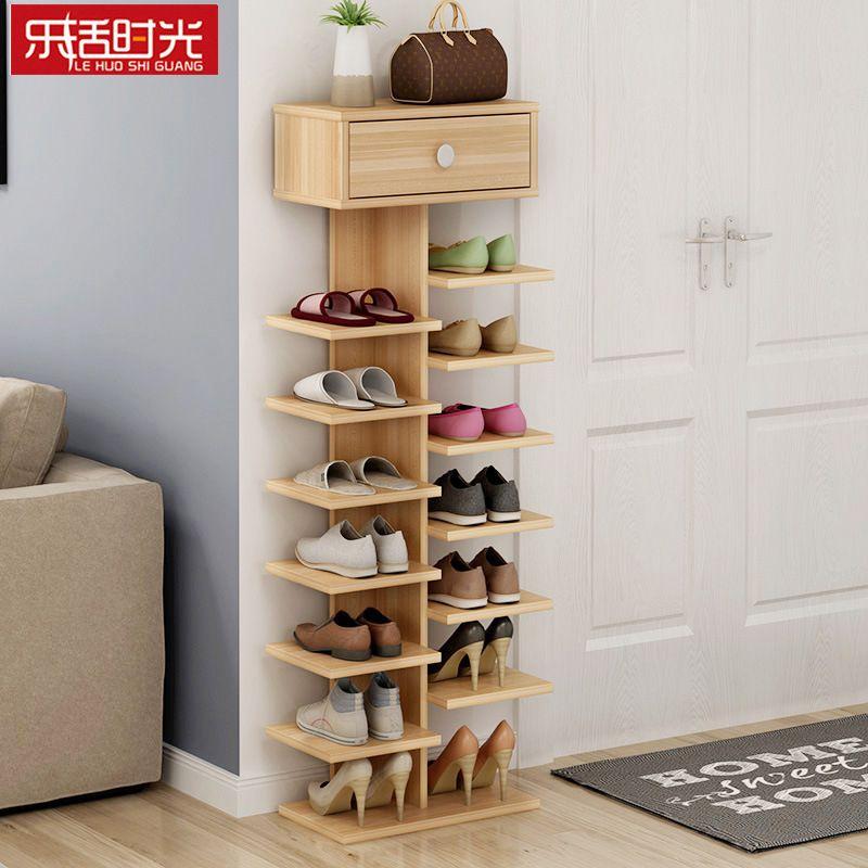 double shoe racks scarpiera organizer wooden home on shoe rack wooden with door id=24117