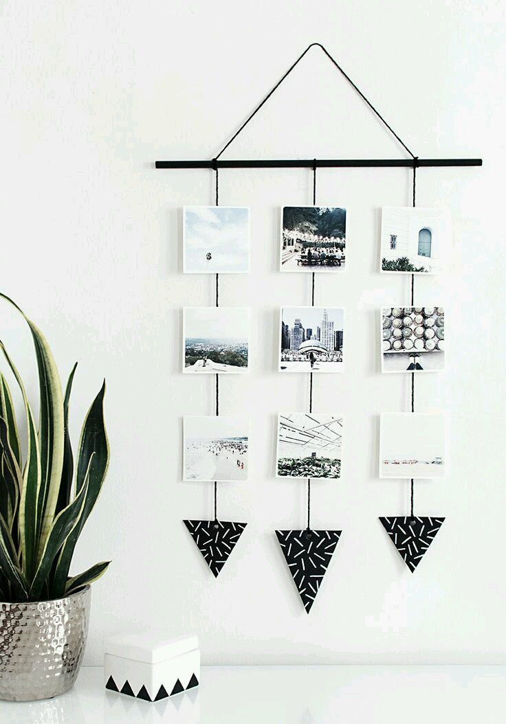 Diy Room Decor And Some Other Ideas Diy Photo Wall Diy Photo Projects Photo Wall Hanging