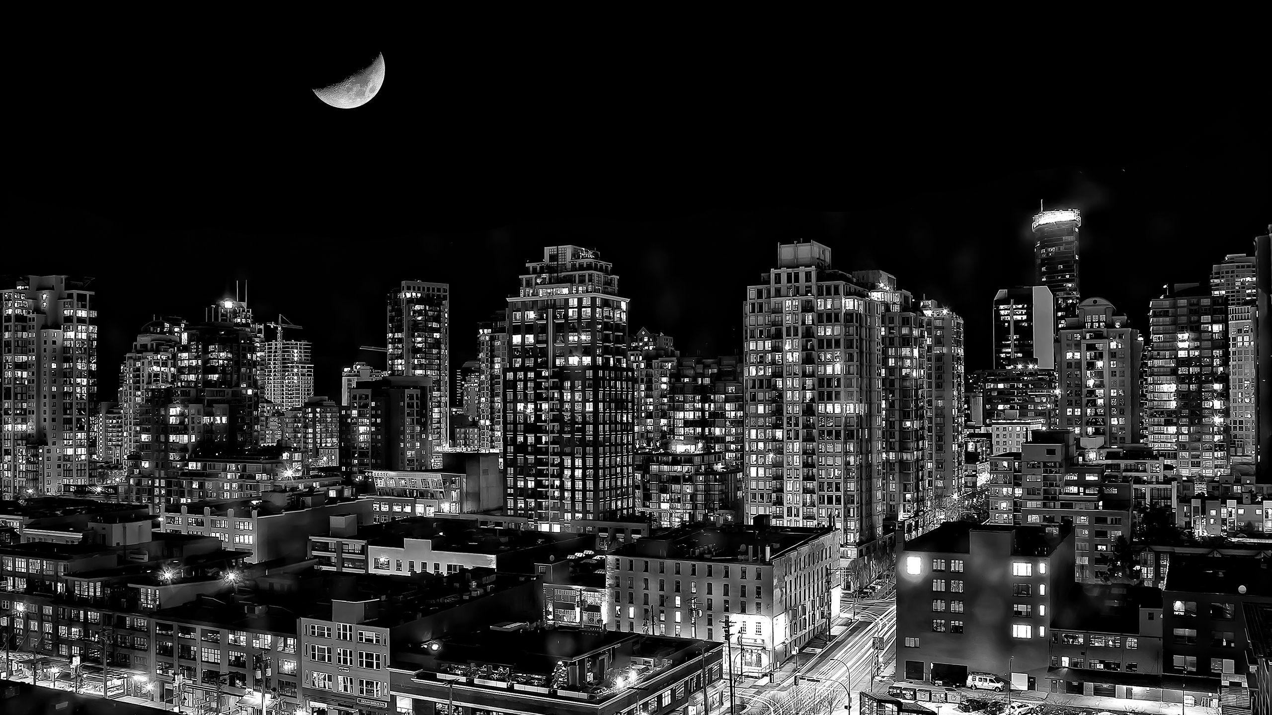 City Background 2 Black And White Landscape City Wallpaper Vancouver Wallpaper