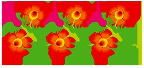 Разделители красные   Рисунок, Цветы, Рисунки