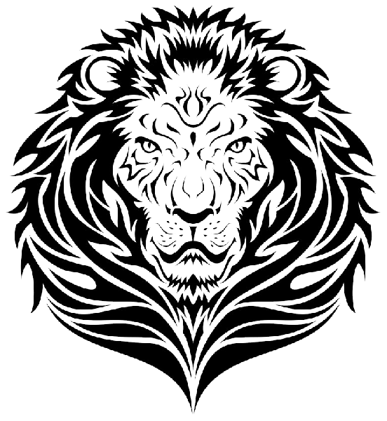 Tribal Lion Face Tattoo Design Png 552 600 Tribal Lion Tattoo Tribal Lion Lion Tattoo Design