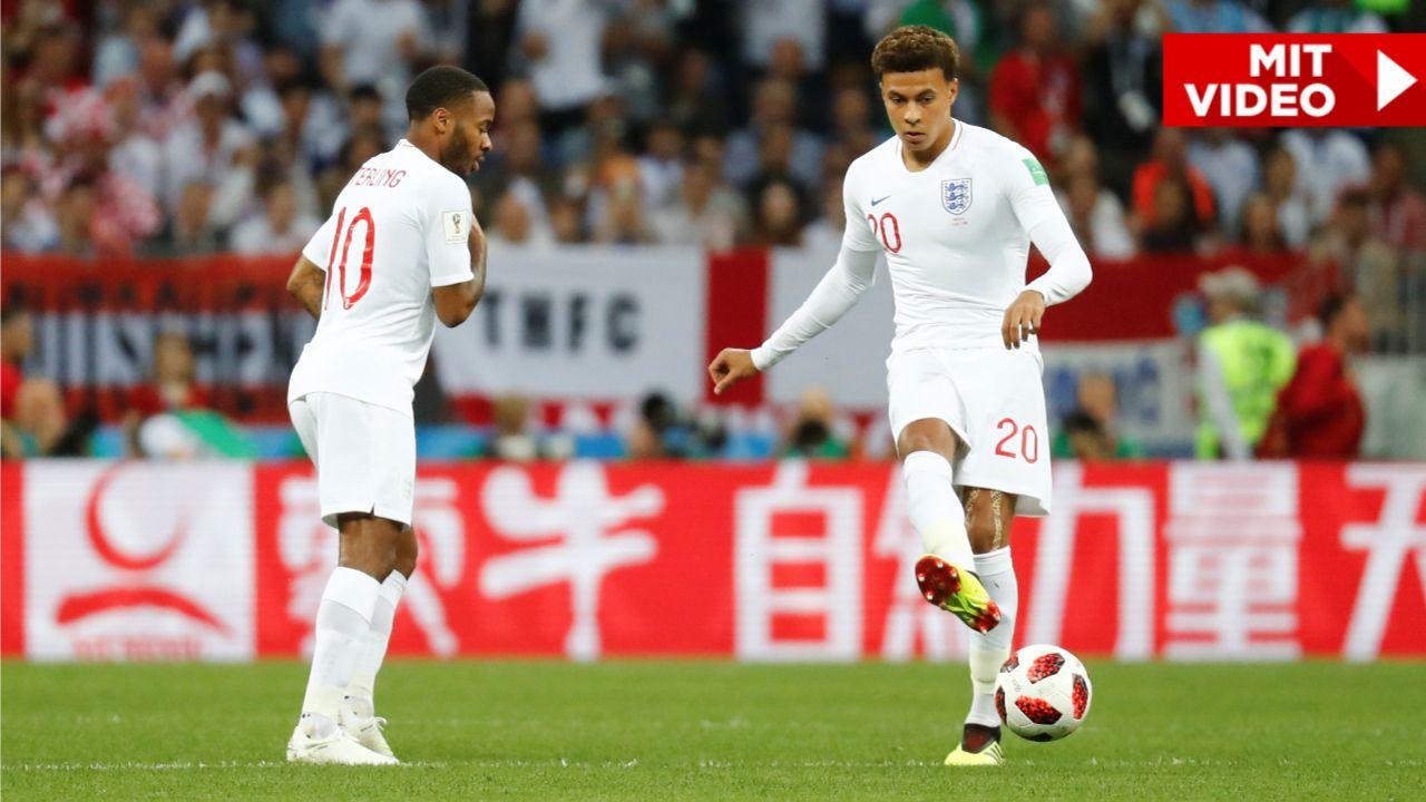 WM 2018 in Russland Englands unglaublicher AnstoßTrick