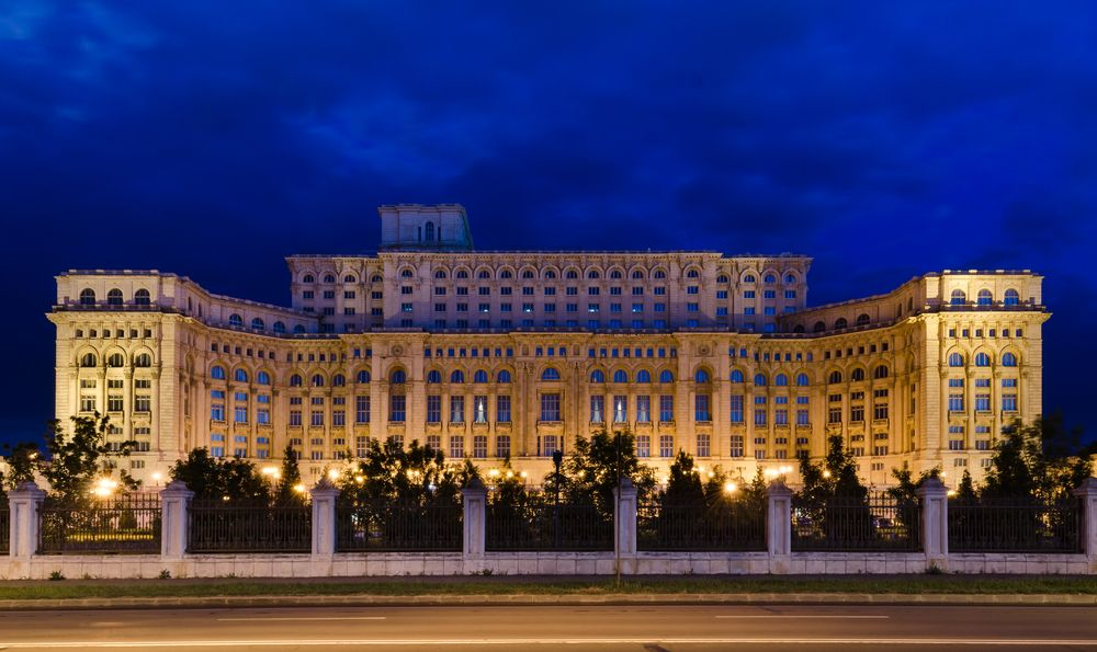 The Palace Of The Parliament In Bucharest Romania Is The