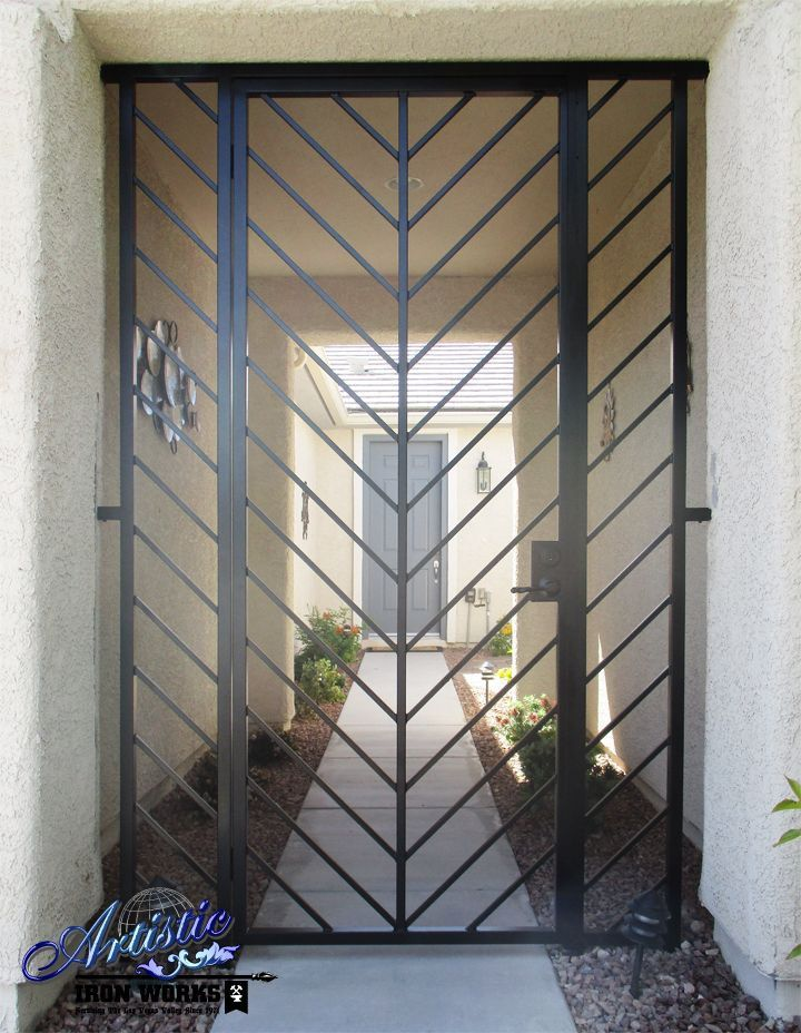 Image Result For Contemporary Entry Gates Metal Front Door Wrought Iron Doors Iron Front Door