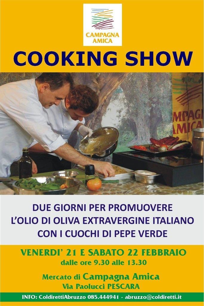 Arrivano i cooking show di Campagna amica. Si comincia da Pescara | L'Abruzzo è servito | Quotidiano di ricette e notizie d'Abruzzo