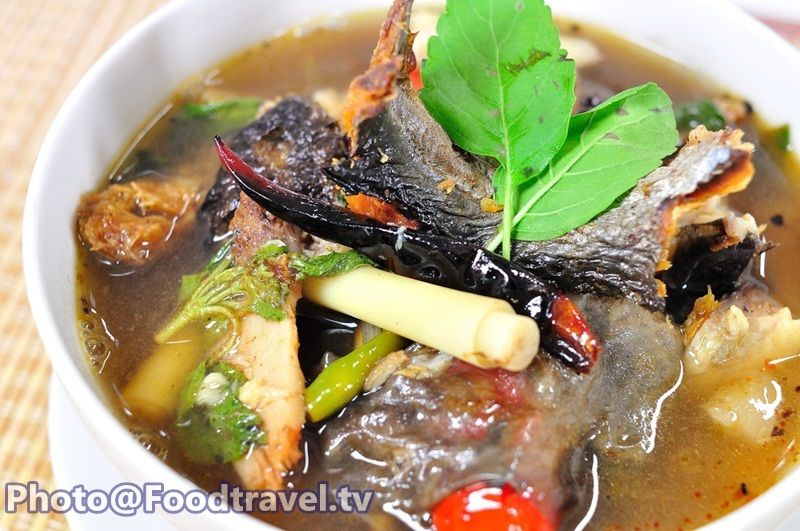 Sour And Spicy Smoked Dry Fish Soup Tom Klong Pla Grob