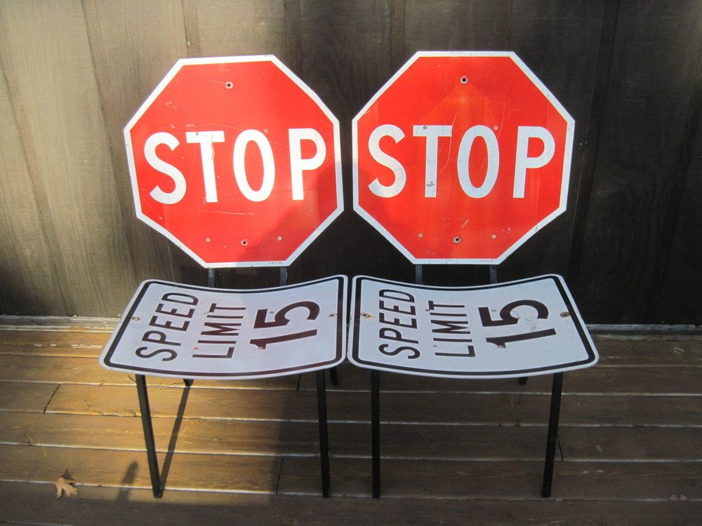 Cabootle Road Sign Table Vintage Chairs Pinterest Car - Road sign furniture