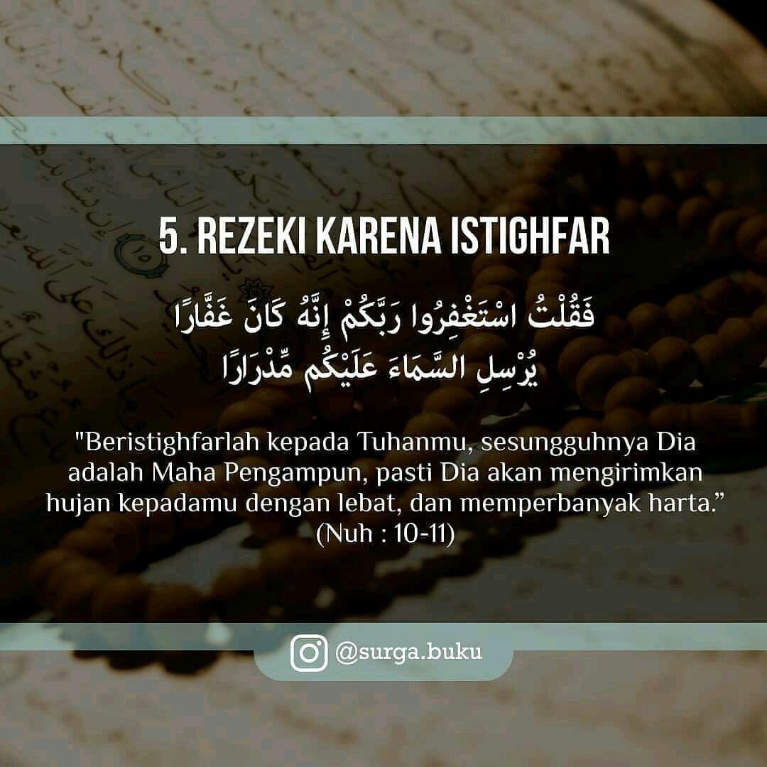 8 Jenis Rezeki Dari Allah 5 Kutipan Agama Qur An Kutipan