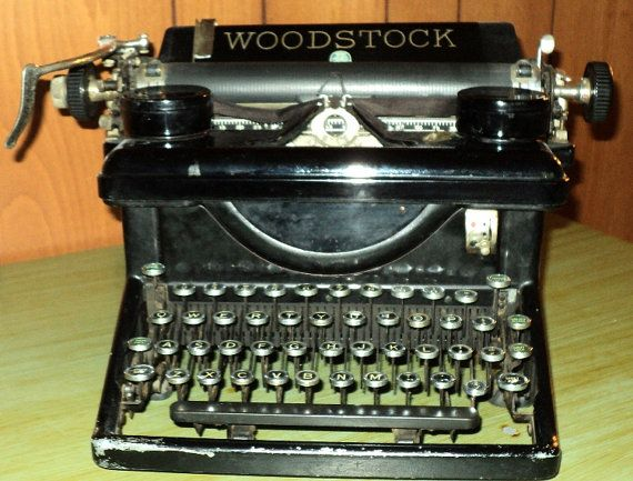 Typewriter Vintage Typewriter Woodstock by FashionistasAtHome