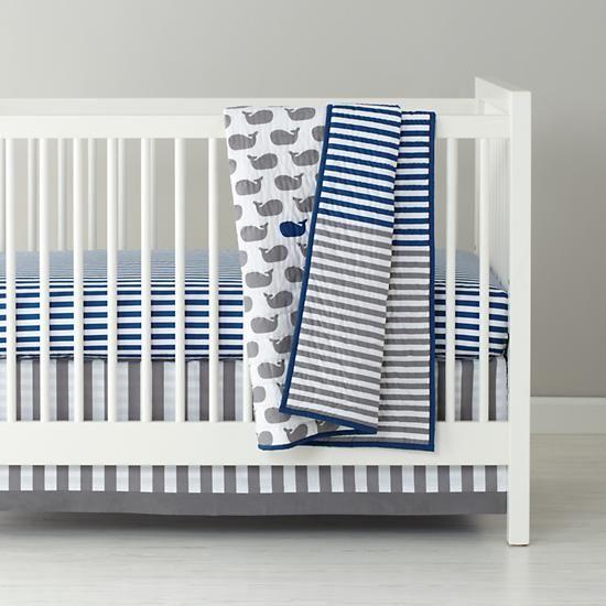 Baby Bedding Grey Blue Whale Crib Bedding In Crib Bedding