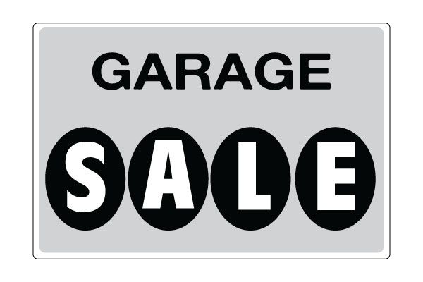 photo relating to Retail Sale Signs Printable named Printable Garage Sale Signs or symptoms - Grey Down load Absolutely free GARAGE