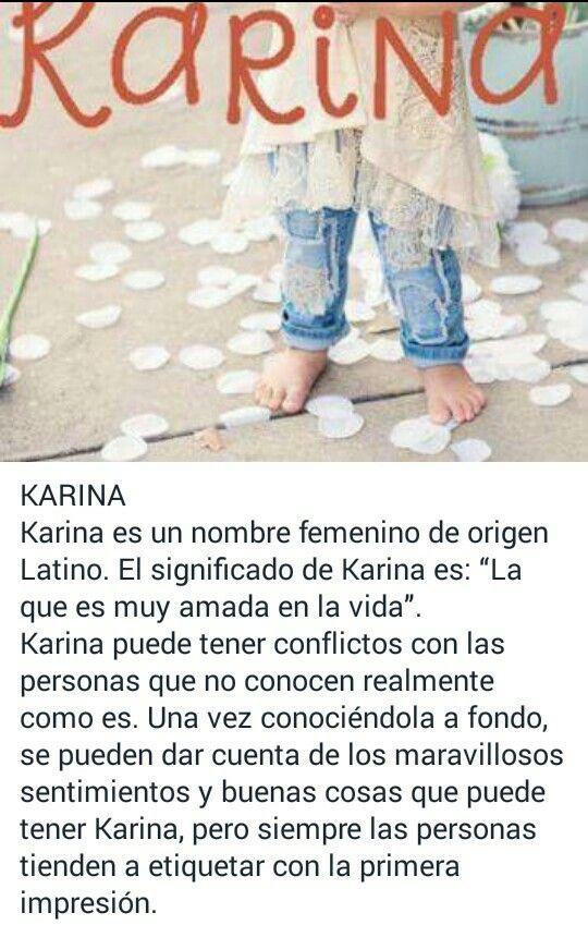 Karina Significado Nombres Mujeres Pinterest Names Y Baby