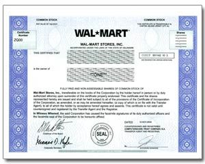 Walmart Stock Phone Number >> Single Share Of Stock In 2 Minutes An Awesome Gift Idea By