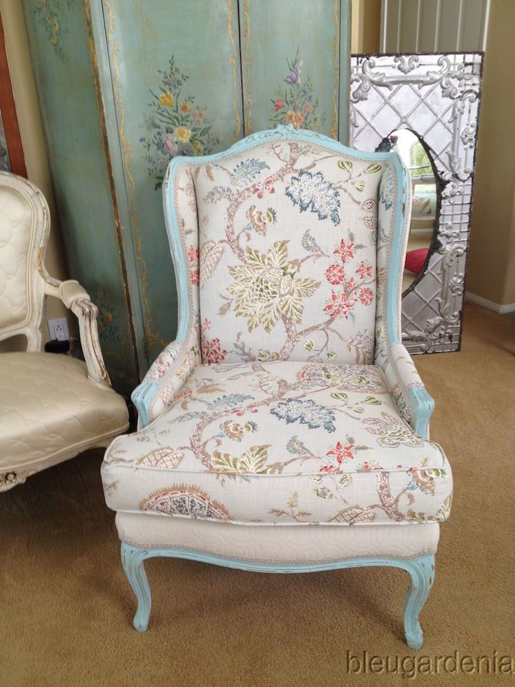 Vintage French Country Bergere Arm Chair ~ COTTAGE CHIC ...
